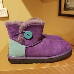 Authentic Ugg Mini Bailey Button Boots Size 8